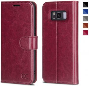 OCASE Samsung Galaxy S8 Leather Case