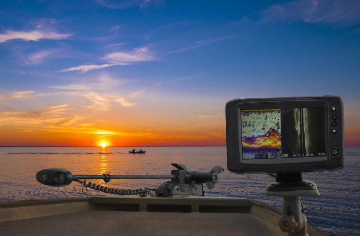 fish finder and trolling motor